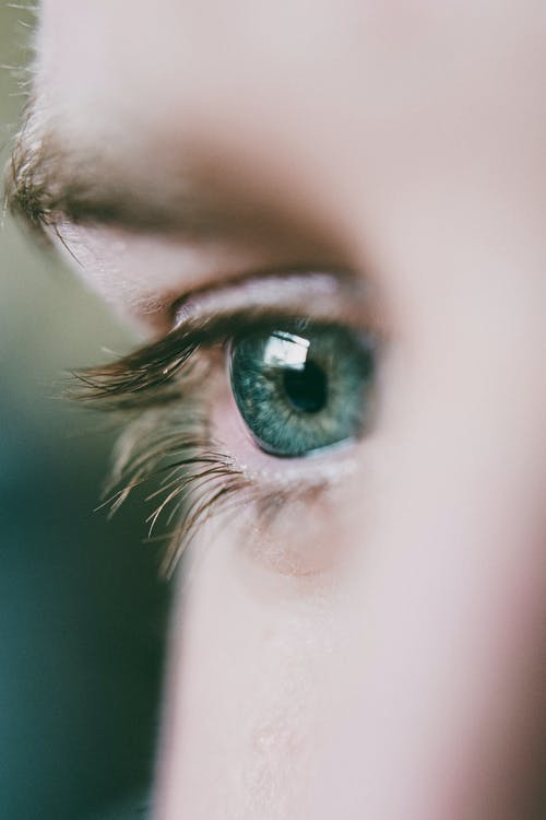 Close-Up View Of A Person's Eye