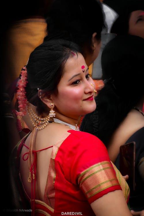 Immagine gratuita di adorabile, belle donne, bellezza, festival indiano