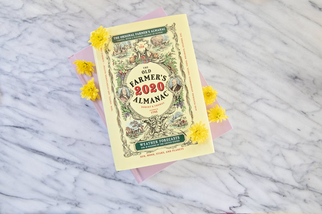 2020, book, Farmers Almanac