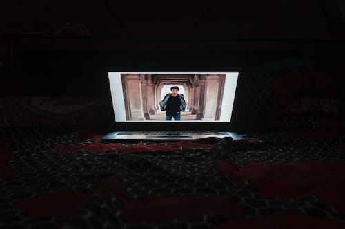 Free stock photo of dark, indoors, laptop, long exposure
