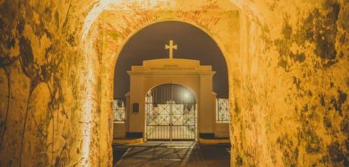 Free stock photo of cementery, night, puerto