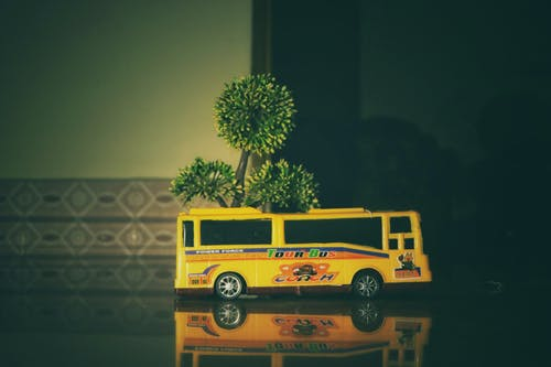 Free stock photo of children toys, public transport, school bus, toy