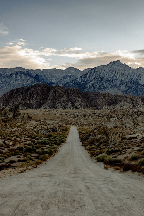 Photo of Dirt Road Across the Mountains
