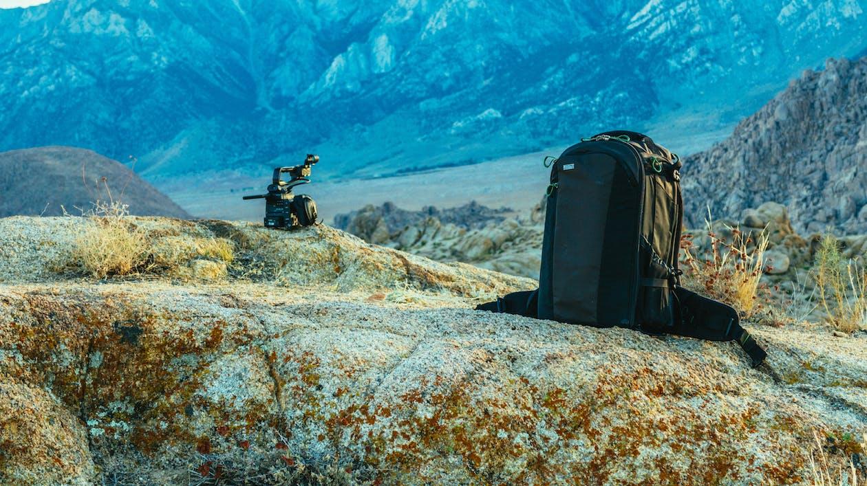 fényképezőgép, hátizsák, táska
