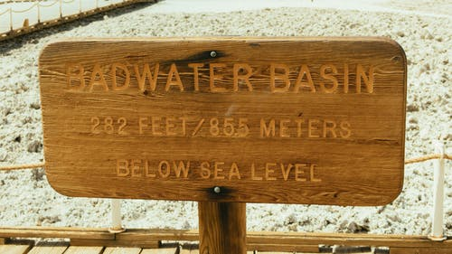 Badwater Basin Signboard