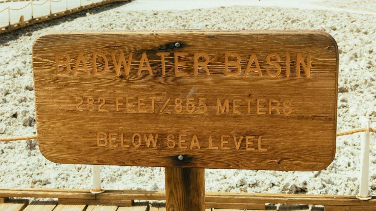 alerta, aviso, bacia badwater