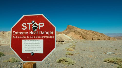 Stop Extreme Heat Danger Signage