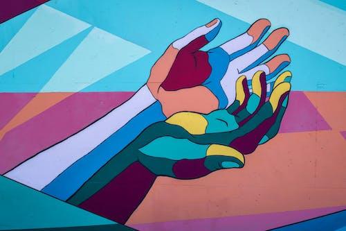 Ilmainen kuvapankkikuva tunnisteilla kädet, katutaide, seinämaalaus
