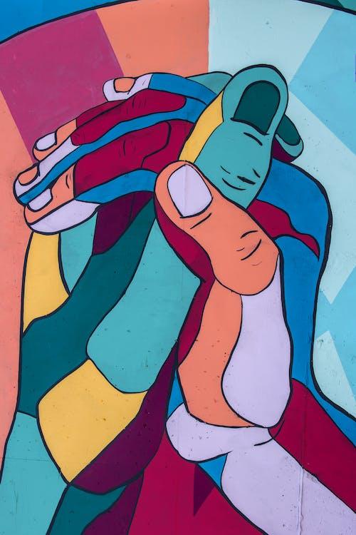 Foto stok gratis lukisan dinding, seni jalanan, tangan