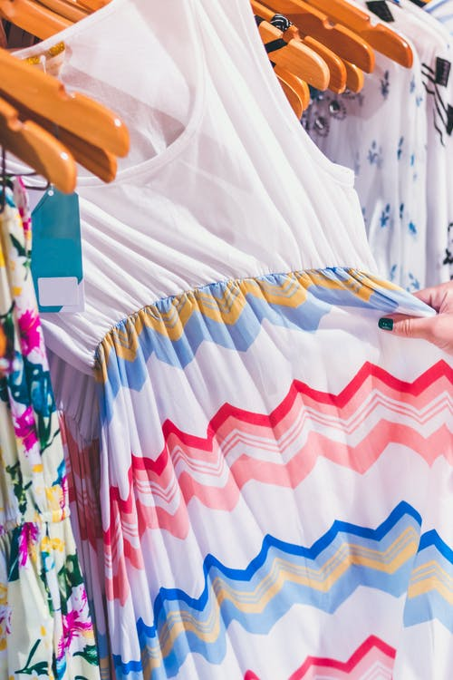 Chevron Sleeveless Dress