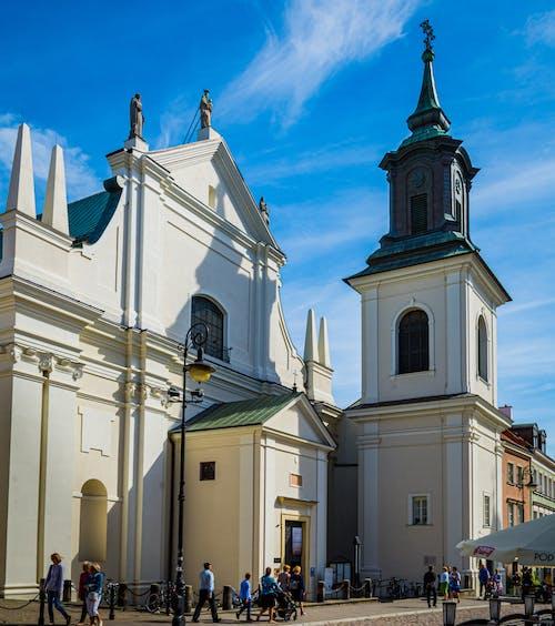 Бесплатное стоковое фото с белая церковь, варшава, вид на город, вид сверху
