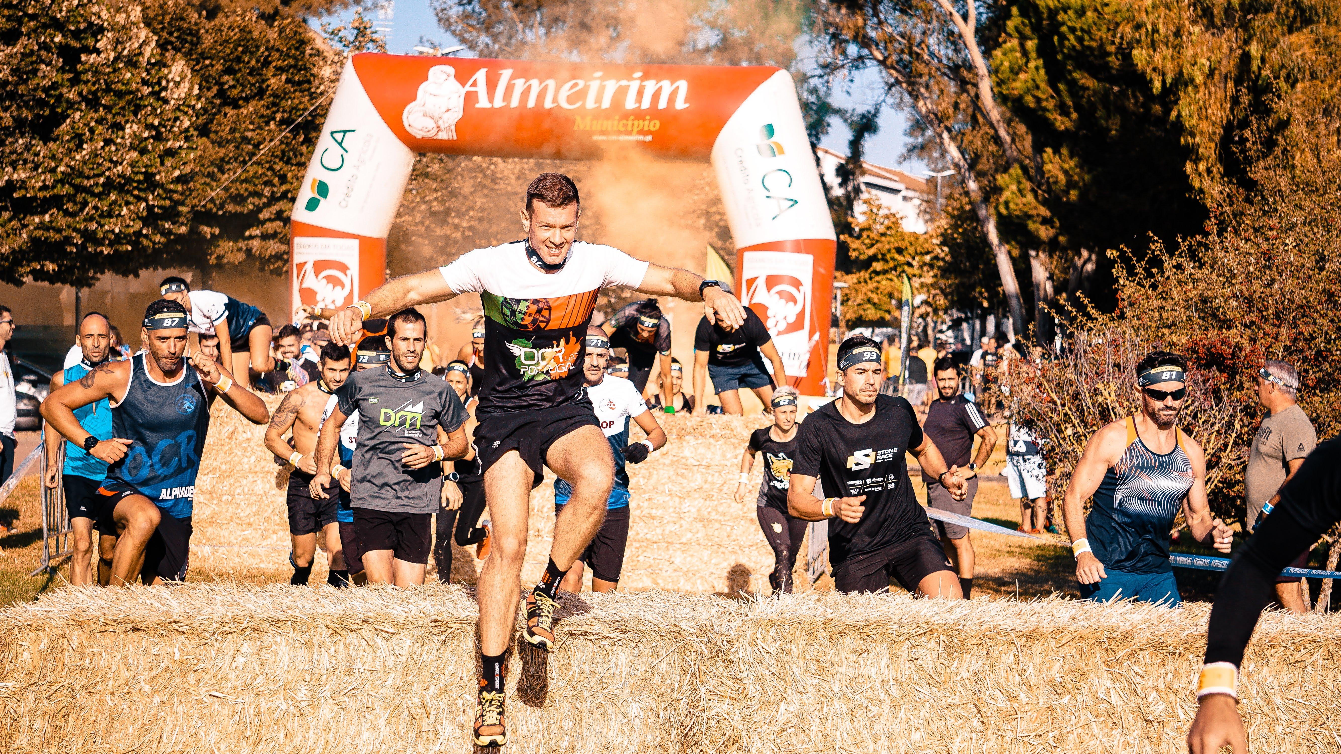 Group of Men Running