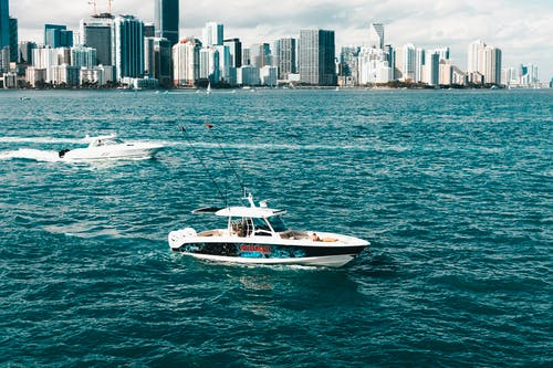 Imagine de stoc gratuită din ambarcațiune, barcă, barcă cu motor, mare