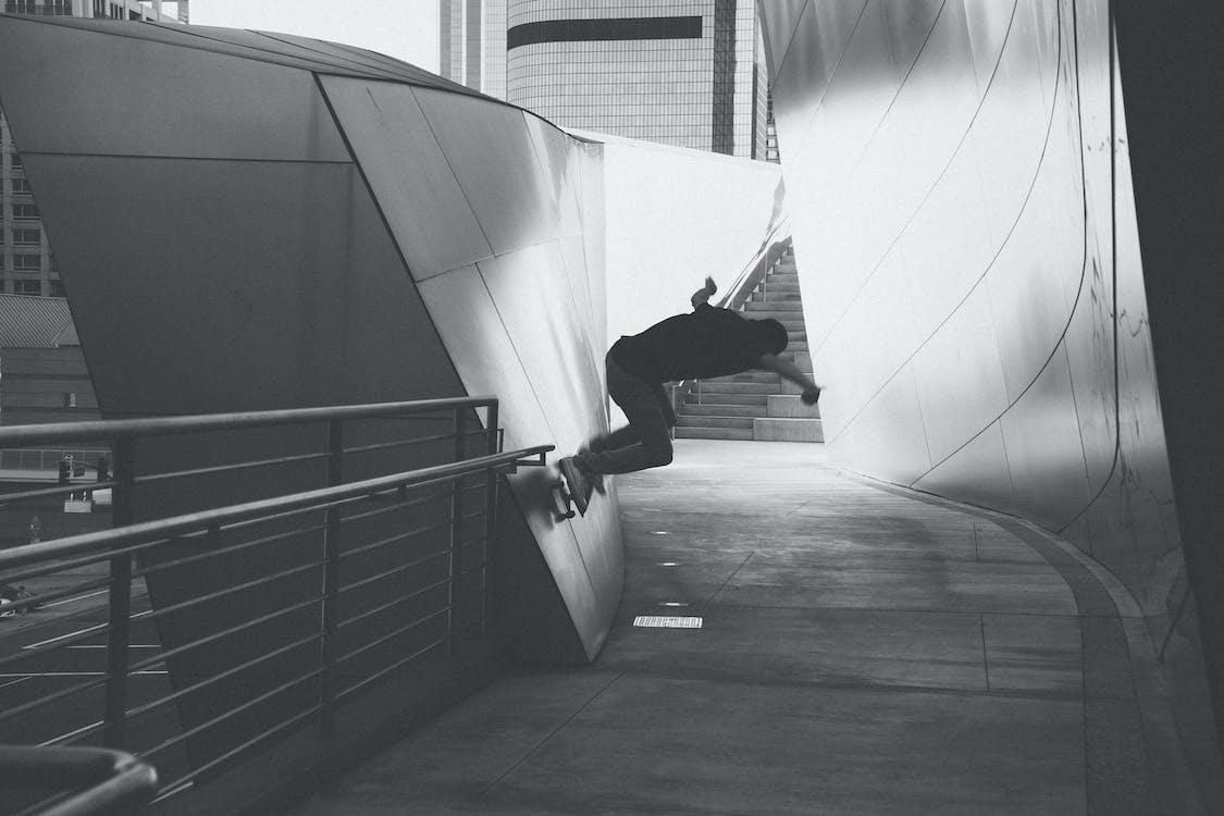 grind, skateboarder, skateboarding