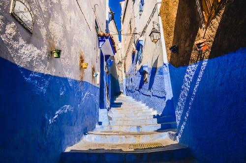 คลังภาพถ่ายฟรี ของ chaouen, chefchaouen, กำแพงสีฟ้า, ถนน
