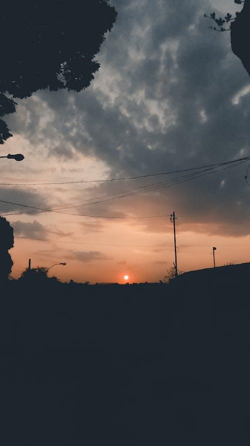 天堂, 橘色天空 的 免費圖庫相片