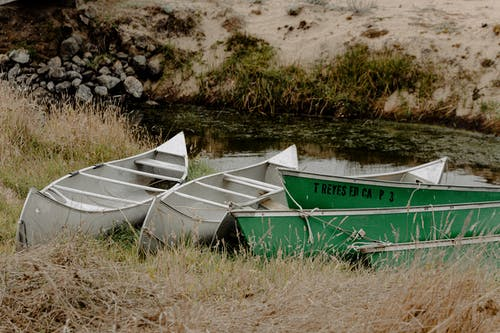 Boats on Grass
