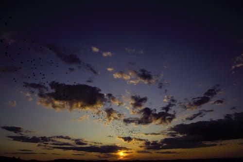 Δωρεάν στοκ φωτογραφιών με απόγευμα, βραδινός ουρανός, δύση του ηλίου, ηλιοβασίλεμα ουρανό
