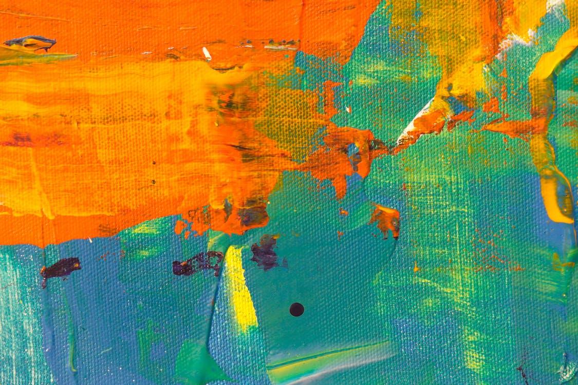 การทาสี, การแสดงออกทางนามธรรม, ความคิดสร้างสรรค์