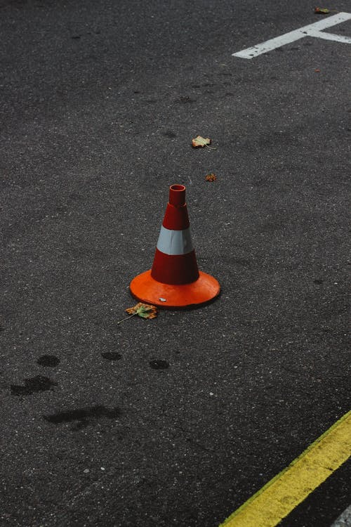 Free stock photo of car, cone, road, street