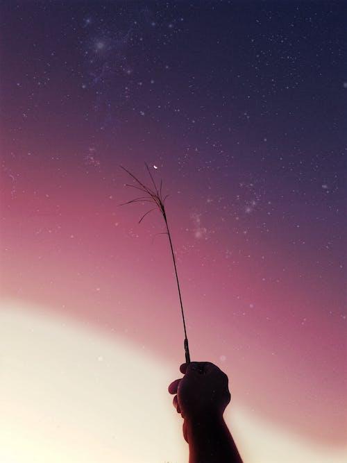 Gratis lagerfoto af 4k-baggrund, baggrund, galakse, halvmåne