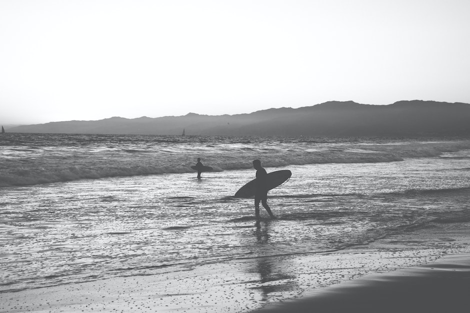 black-and-white, surfer, surfing