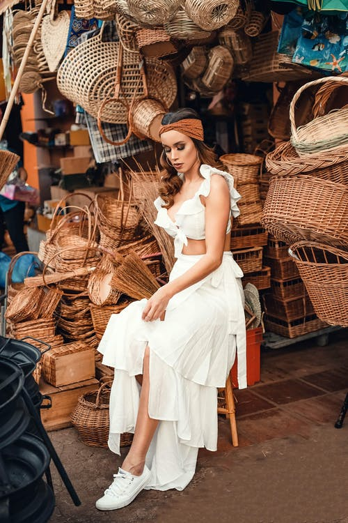 Бесплатное стоковое фото с женщина, корзины, красивая, красивый