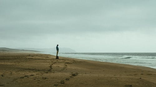 Photo Of Person Standing On Shore