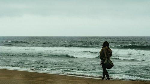 Δωρεάν στοκ φωτογραφιών με ακτή του ωκεανού, ακτής του ωκεανού, άνθρωπος, αφρός