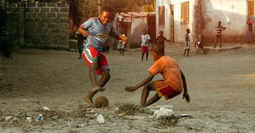 Free stock photo of african, kids, playing, soccer