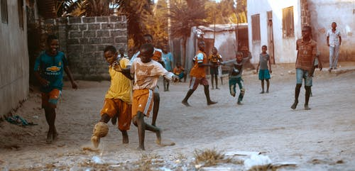 Free stock photo of africa, kids, playing, soccer