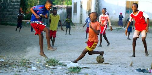 Free stock photo of kids, playing, soccer, tanzania