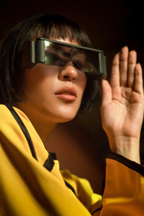 Základová fotografie zdarma na téma brýle, focení, futuristický