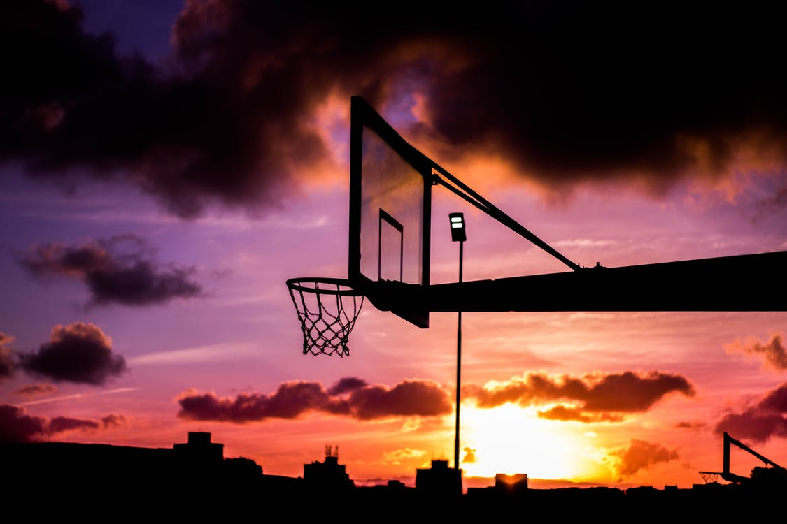 Silhouette Of Basketball Ring