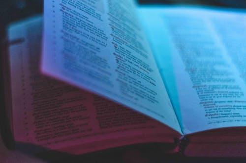 Photos gratuites de bleu, bleu et rouge, lecture de livre, lire