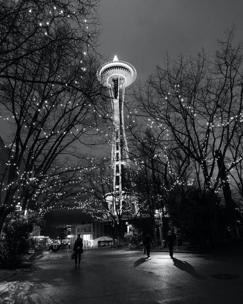 Needle Tower at Night