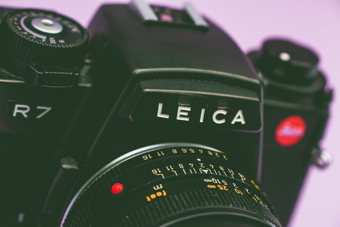 Shallow Focus Photo of Black Leica Slr Camera