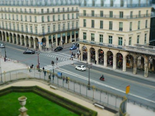 Gratis lagerfoto af bygning, gade, luftslør, miniature