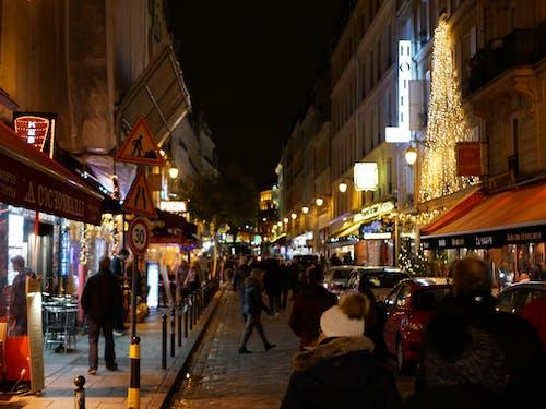 Gratis lagerfoto af fransk, gade, nat, paris