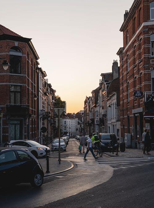 Photos gratuites de coucher de soleil, panorama urbain