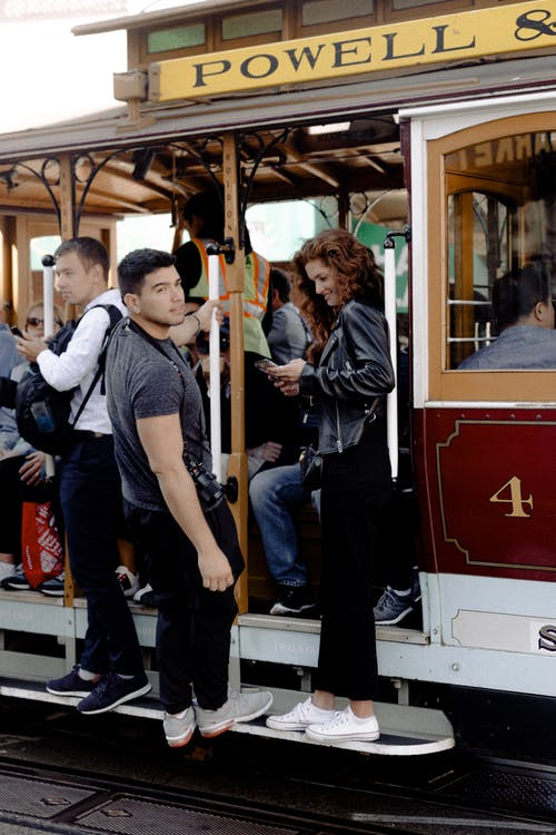 Men and Women on Tram