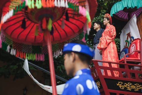 Free stock photo of asian couple, colorful, festival, japanese culture