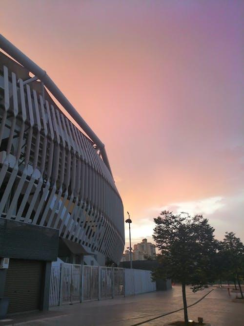 Free stock photo of Beautiful sunset, running track, stadium