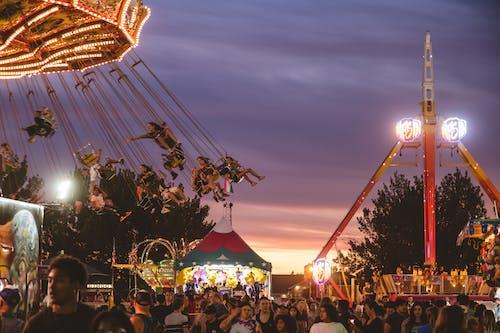 놀이공원, 사람, 엔터테인먼트, 재미의 무료 스톡 사진
