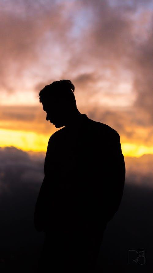 Gratis lagerfoto af portræt, silhouet, skygge, solnedgang