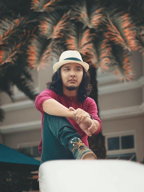 긴 머리, 긴팔, 남자, 아시아 남성의 무료 스톡 사진