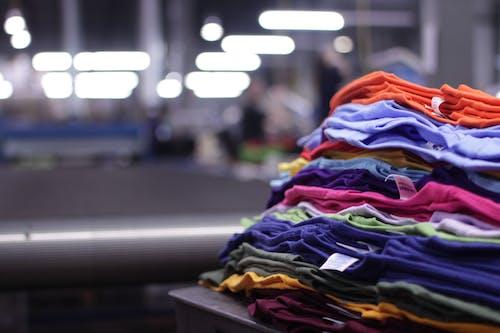 Free stock photo of custom t shirts, stack, t shirt