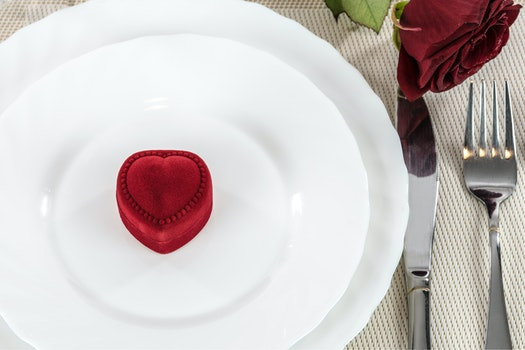 Free stock photo of plate, restaurant, red, love