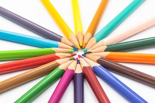 Бесплатное стоковое фото с апельсин, белый, голубой, группа