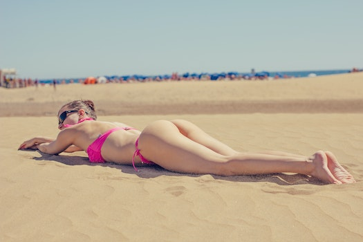 Free stock photo of beach, bikini, sunbathing, body
